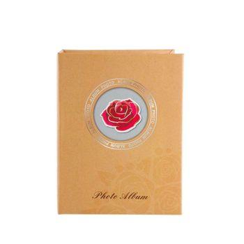 Album-Foto-cu-Insertie-Trandafir-100-Poze-10x15-cm-Buzunare-Slip-Crem
