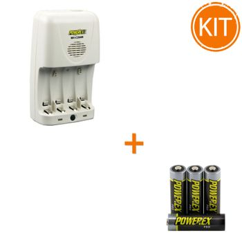 Kit-Maha-incarcator-MH-C204W-White---4-acumulatori-Maha-Powerex-PRO-R6-2700mAh