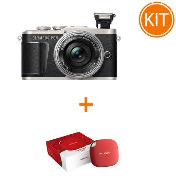 Kit---Olympus-E-PL9---Obiectiv-Pancake-EZ-M-14-42mm-Negru-Argintiu---bonus-Hikvision-SSD-extern120GB-USB-3
