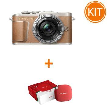 Olympus-E-PL9---EZ-M14-42mm-Pancake-brown-silver-bonus-Hikvision-SSD-extern-120GBUSB-3