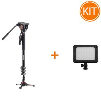 Kit-Manfrotto-MVMXPRO500--Monopied-Video---Lampa-LED-RGB-C18-15W