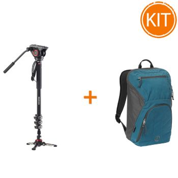 Kit-Manfrotto-MVMXPRO500--Monopied-Video---Rucsac-Tamrac-Hoodoo-20-Ocean