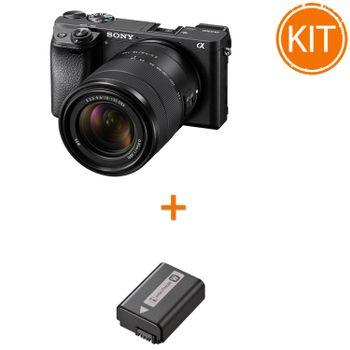 Kit-Sony-A6300-Aparat-Foto-Mirrorless---Obiectiv-18-135---Sony-NP-FW50