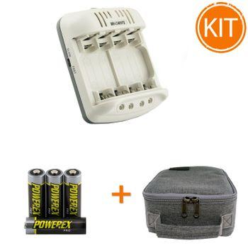 Kit-Maha-Incarcator-MH-C401FS---4-acumulatori-Powerex-PRO-de-2700mAh---geanta-transport
