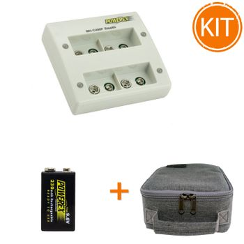 Kit-Maha-Incarcator--MH-C490F---acumulator-Powerex-Precharged-9V---geanta-transport
