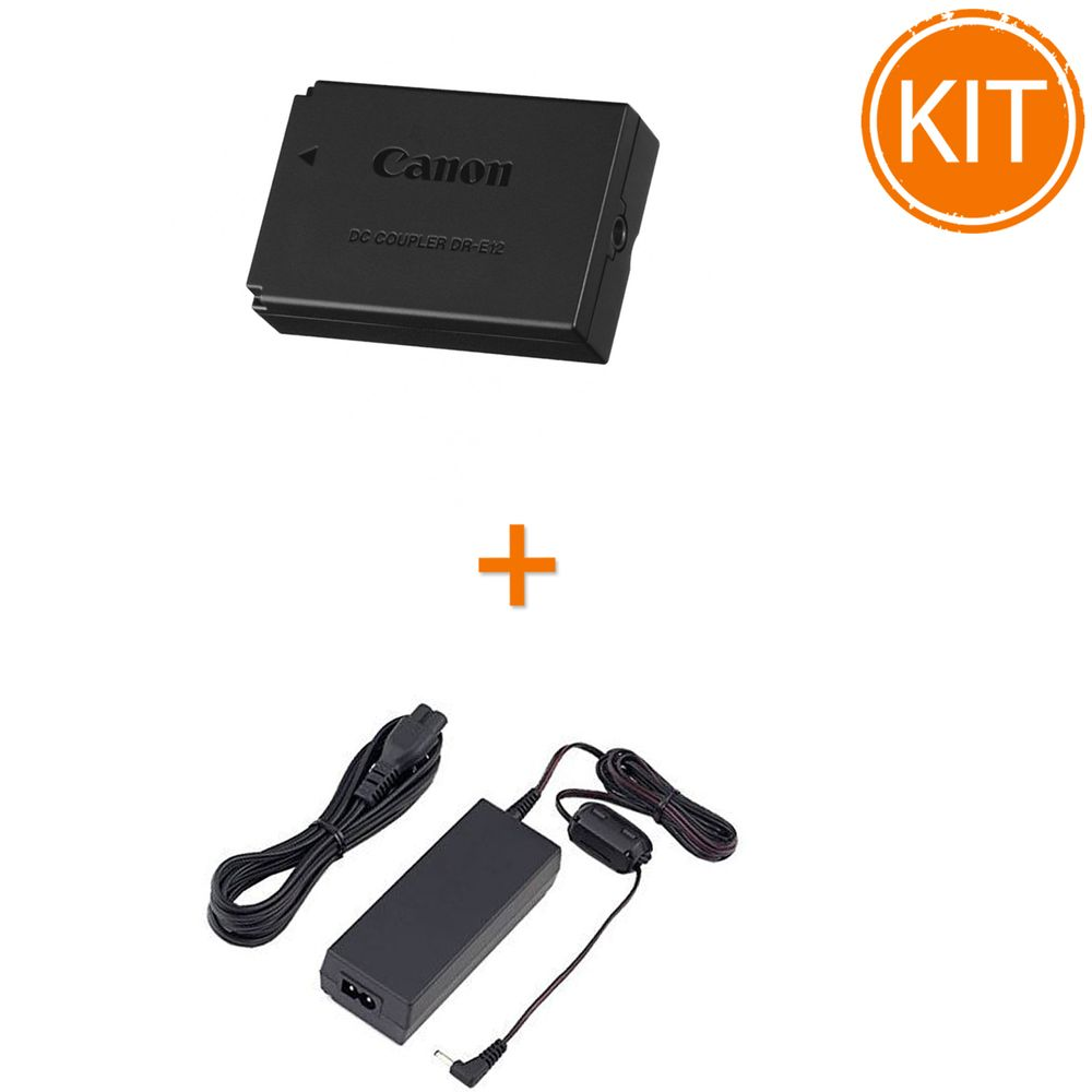 Kit-Canon-DR-E12-Coupler---Canon-ACK-E12-Alimentator-pentru-EOS-M10-EOS-M50-EOS-M100