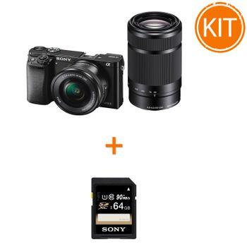 Kit-Sony-A6000-cu-Obiectiv-16-50-F3.5-5.6-OSS-si-55-210-F4.5-6