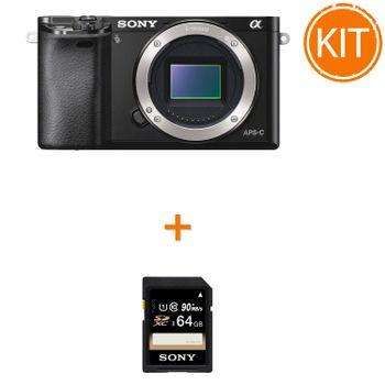 Kit-Sony-A6000-Body---Sony-SDXC-64GB-Class-10-90MBs