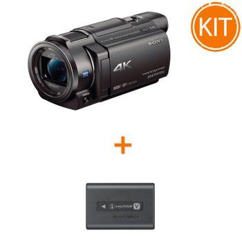 Kit-Sony-Handycam-FDR-AX33---Sony-Acumulator-original-NP-FV70A