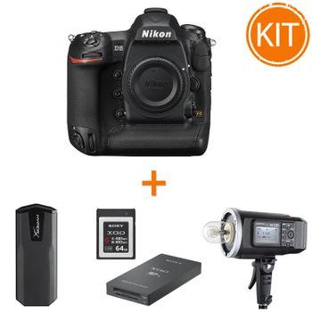 Kit-Nikon-D5-Body---Blitz-Godox-AD600---Sony-XQD-64GB---Sony-MRW-E90-Cititor-Carduri---Kingston-960GB-Savage-EXO-SSD