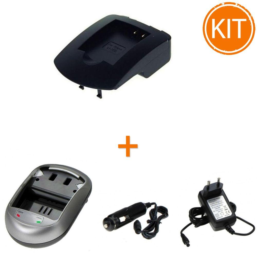 Kit-Incarcator-Power3000-pentru-acumulator-Olympus-tip-Li-70B---Bonus-adaptor-auto