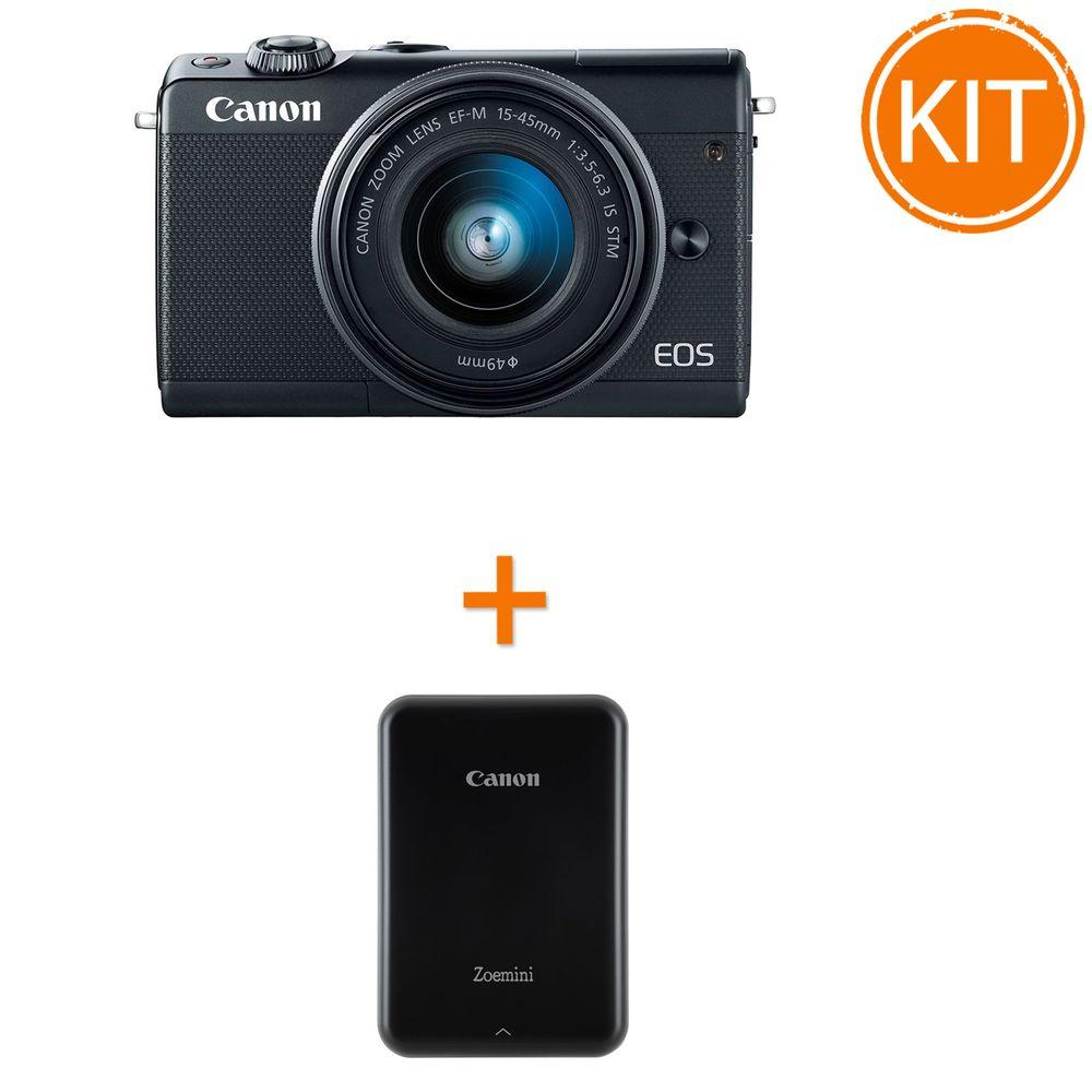 Kit-Canon-EOS-M100-cu-Obiectiv-EF-M-15-45mm---Canon-Zoemini-Imprimanta-Foto-Compacta