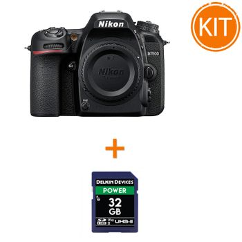 Kit-Nikon-D7500-Body---Delkin-SDHC-32GB-POWER-UHS-II-2000X-V90