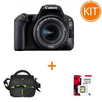 Kit-Canon-EOS-200D-cu-Obiectiv-18-55mm-IS---Geanta-Somita-Navi-21---Card--Kingston-32GB-SDXC