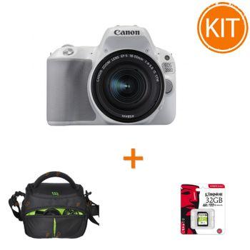 Kit-Canon-EOS-200D-cu-Obiectiv-18-55mm-IS-Alb---Geanta-Somita-Navi-21---Card--Kingston-32GB-SDXC