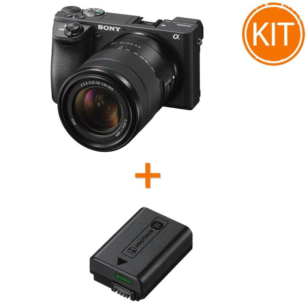 Kit-Sony-A6500-18-135-F3.5-5--Sony-NP-FW50-Acumulator-Original-