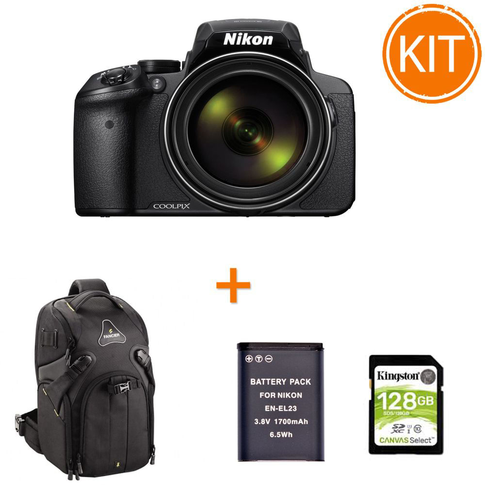 Kit-Nikon-Coolpix-P900-Aparat-Foto-Bridge-Negru-bonus-Card-128GB---Rucsac-Foto-Fancier-KingKong-I-10---Acumulator-Power3000