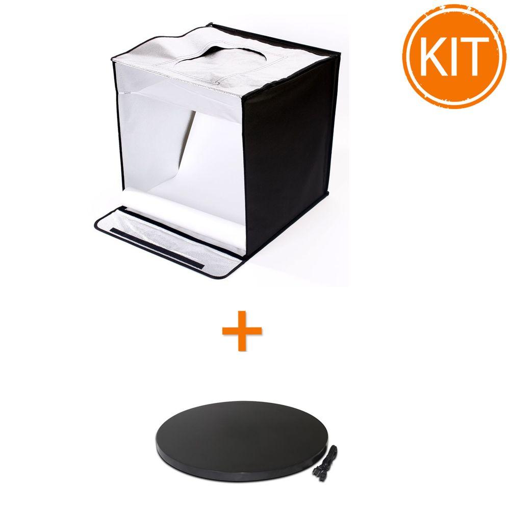 Kit-foto-produs-Cub-Foto-Produs-Hakutatz-SSL-LED-60cm-cu-lumina-LED---Masa-rotativa-60cm-Negru