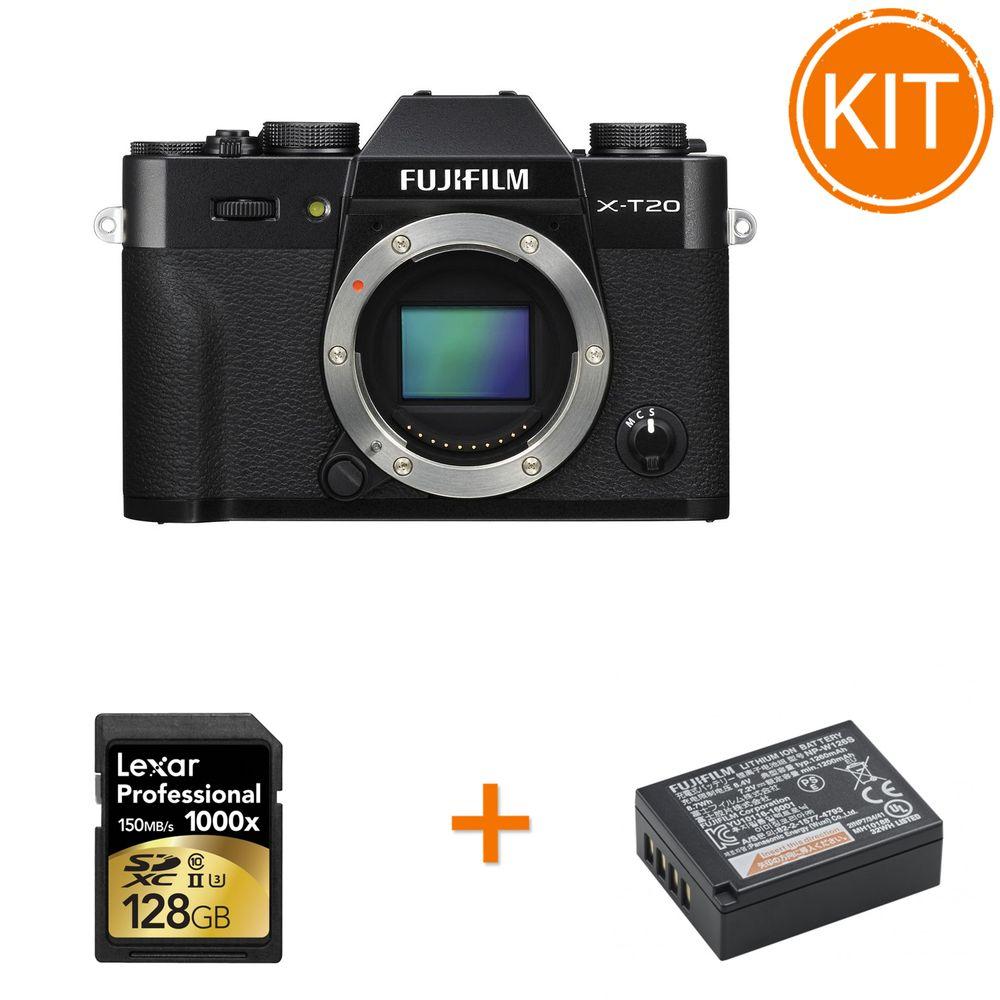 Kit-Fujifilm-X-T20-Body-Negru-bonus-Acumulator-Fujifilm---Card-Lexar-128GB