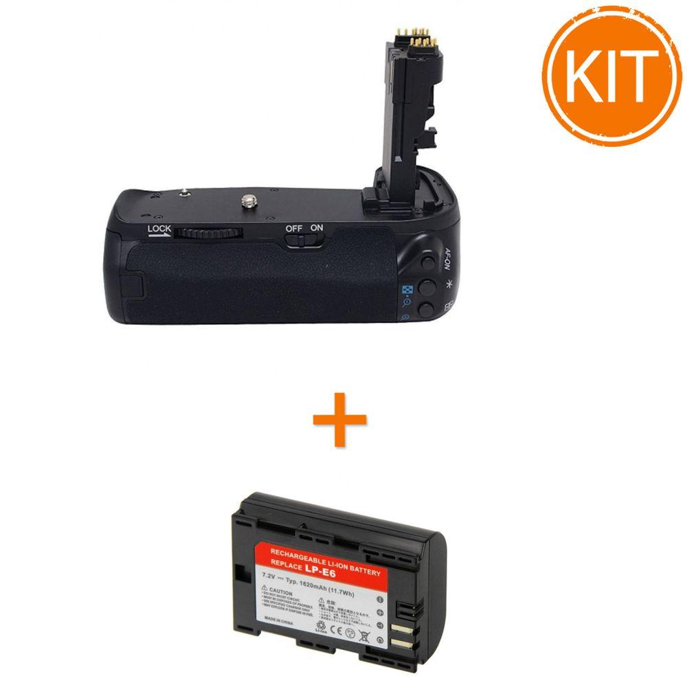 Kit-MeiKe-MK-70D-Grip-pentru-Canon----Acumulator-Power3000-tip-Canon-LP-E6