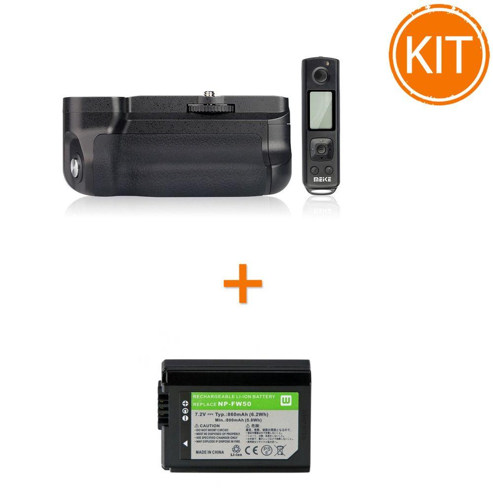 Kit-Meike-MK-A6500-Pro-Grip-pentru-Sony---Acumulator-Power3000-tip-Sony-NP-FW50