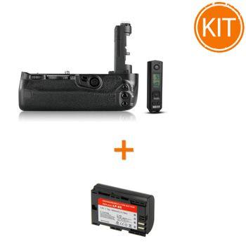 Kit-Meike-MK-5D4-Pro-Grip-pentru-Canon---Acumulator-Power3000-tip-Canon-LP-E6