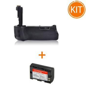 Kit-Meike-MK-5D-MK-III-Grip-pentru-Canon---Acumulator-Power3000-tip-Canon-LP-E6