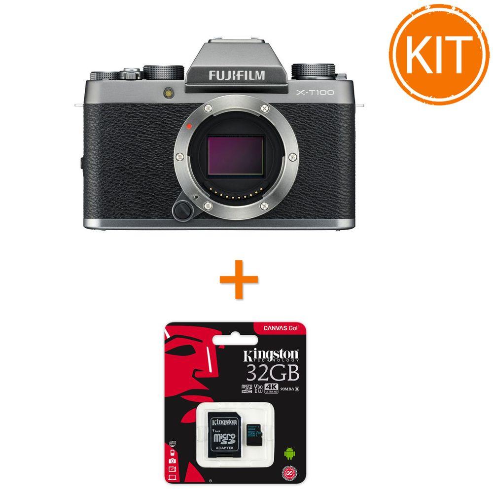 Kit-Fujifilm-X-T100-Body---Card-Memorie-Kingston-32GB