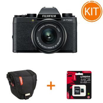 Kit-Fujifilm-X-T100-cu-Obiectiv-15-45mm---Card-Memorie-Kingston-64GB---Athena-S15--Toc-foto