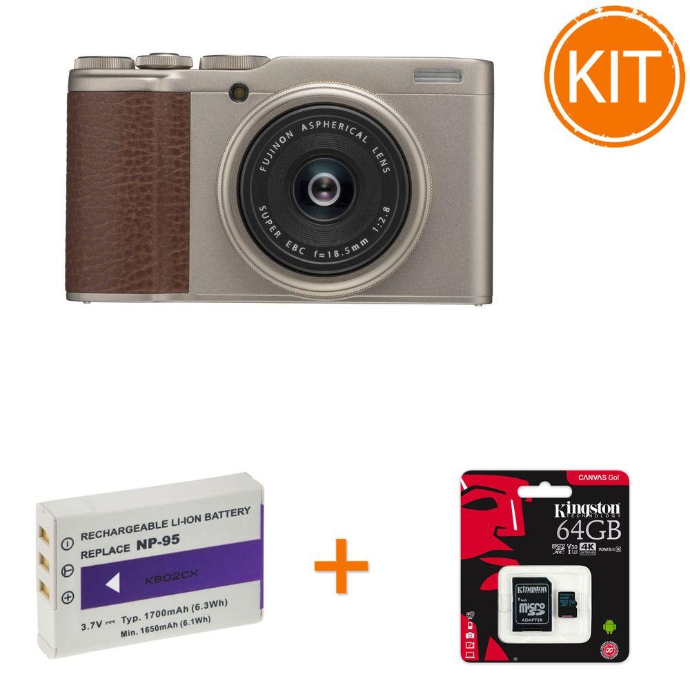Kit-Fujifilm-Finepix-XF10-Champagne-Gold-bonus-Card-Kingston-64GB---Acumulator-Replace-NP-95
