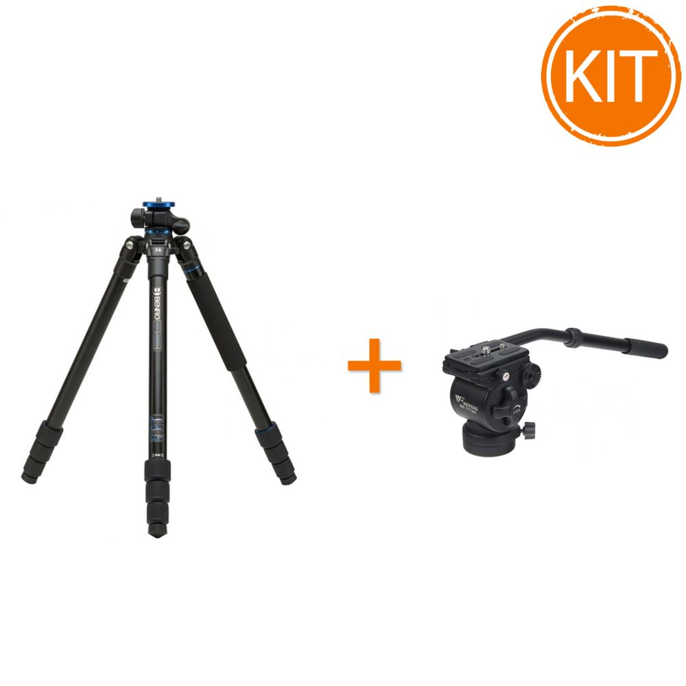Kit-Trepied-Benro-FGP28A---Cap-Video-Fluid-Fancier-WT-6717AH