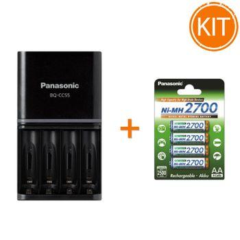 Kit-Panasonic-Eneloop-Incarcator---4-acumulatori-Eneloop-AA-2500mAh---Set-4-acumulatori-2700mAh