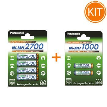 Kit-Panasonic---Set-4-Acumulatori-R6-AA-2700mAh---Set-2-Acumulatori-1000mAh