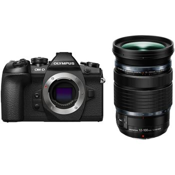 Olympus-OM-D-E-M1-MK-II-Aparat-Foto-Mirrorless-20MP-MFT-4K-Kit-cu-Obiectiv-12-100mm-f4-IS-PRO-Negru---20