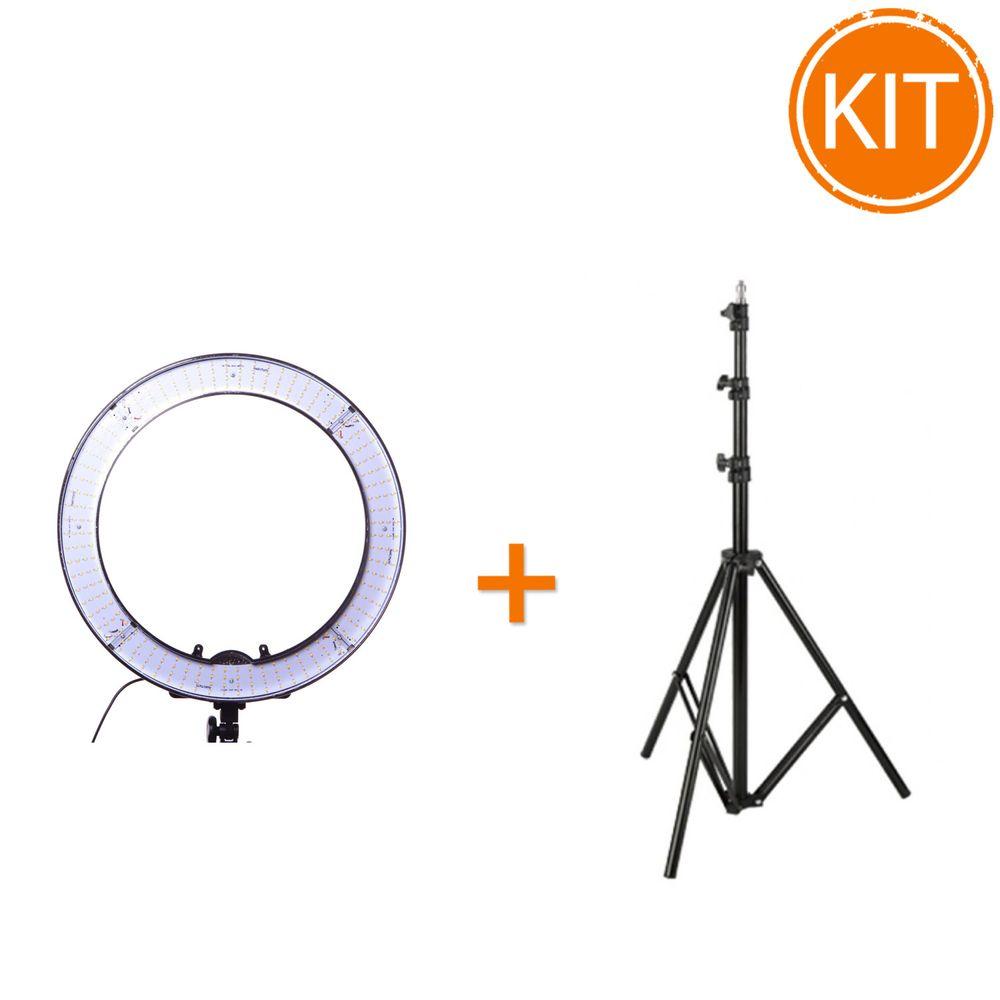 Kit-Lampa-Circulara-LED-Bicolora-Hakutatz-RL-19LEDB---Stativ-TP280-AS-2