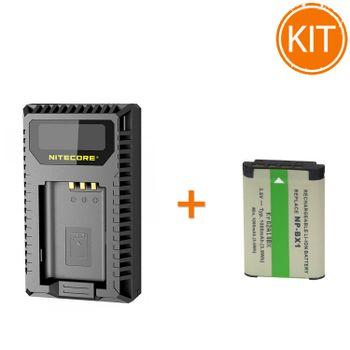 Kit-Nitecore-Incarcator-USB-pentru-Sony---Acumulator-compatibil-tip-NP-BX1