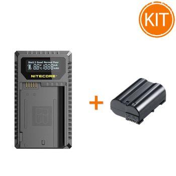 Kit-Nitecore-Incarcator-USB-pentru-Nikon---Acumulator-compatibil-tip-EN-EL15