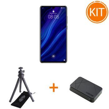Huawei-P30-Black---Trepied-Flexibil-si-suport-telefon---Acumulator-10000-mAh