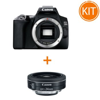 Kit-Canon-EOS-250D-Body-Negru---Bonus-Obiectiv-Canon-EF-S-24mm