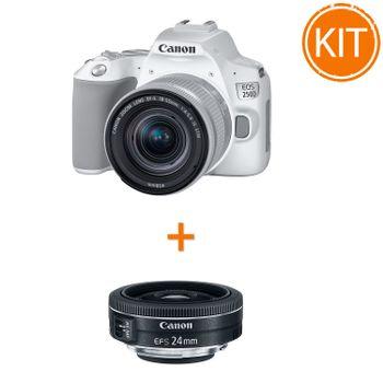 Kit-Canon-EOS-250D-cu-Obiectiv-EF-S-18-55mm-IS-STM-Alb----Bonus-Obiectiv-Canon-EF-S-24mm