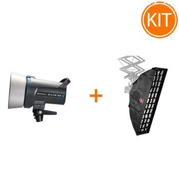 Kit-Blit-Elinchrom-D-Lite-RX4-400W---Softbox-Strip-22x90cm