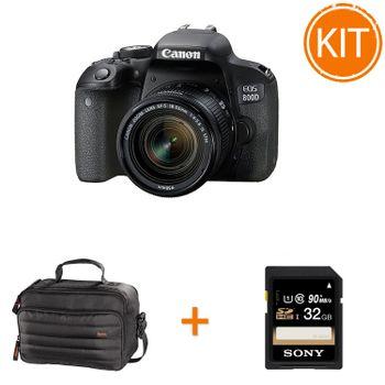 Kit-Canon-EOS-800D-cu-Obiectiv-EF-S-18-55mm---Geanta-Hama---Card-Sony-SDHC-32GB