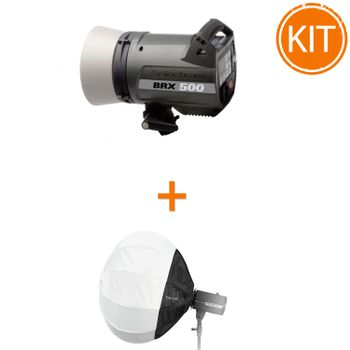 Kit-Blit-Elinchrom-BRX-500---Softbox-Sferic-Fotodiox-50cm