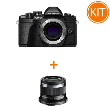 Kit-Olympus-OM-D-E-M10-Mark-III-Body--Negru---Olympus-45mm-F1