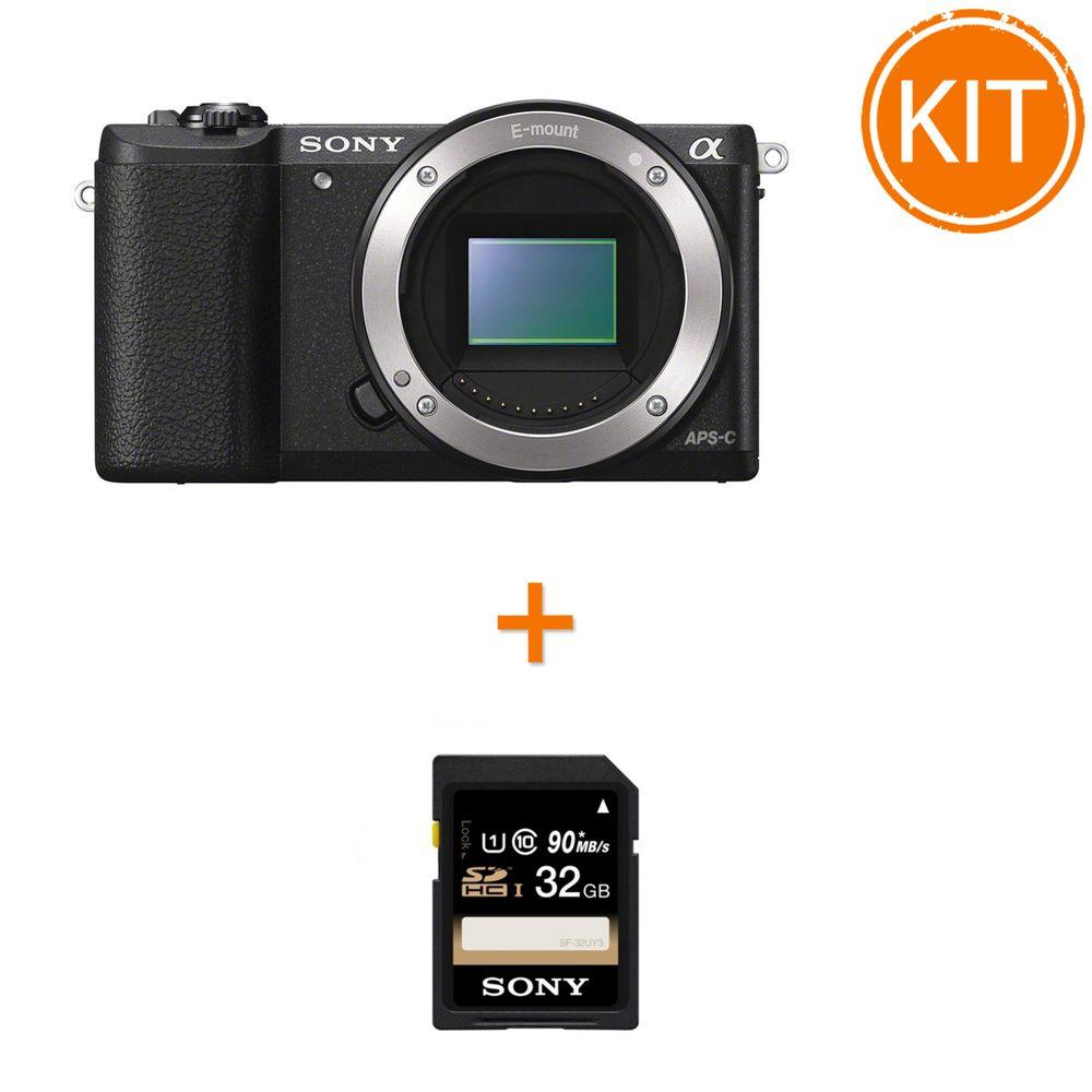 Kit-Sony-A5100-Body-Negru---Sony-SDHC-32GB-Class-10-90MB.s