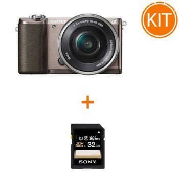 Kit-Sony-A5100-cu-Obiectiv-16-50-OSS-Maro---Sony-SDHC-32GB-Class