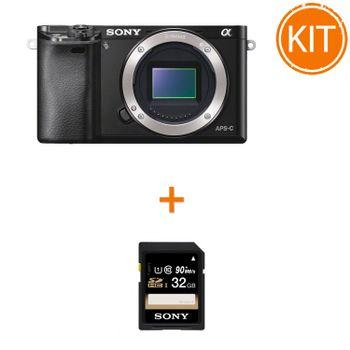 Kit-Sony-A6000-Body-Negru---Sony-SDHC-32GB-Class-10-90MBs