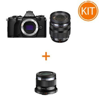 Kit-Olympus-OM-D-E-M5-Mark-II-Kit-cu-Obiectiv-12-40mm-F2.8-Negru---Olympus-45mm-F1