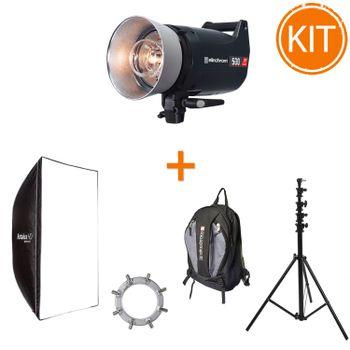 Kit-Blit-Studio-Elinchrom-ELC-Pro-HD-1000W---Softbox-Rotalux-120cm---Stativ-4