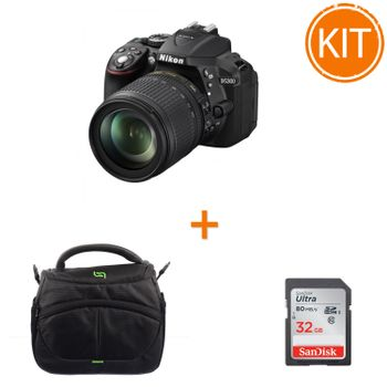 Kit-Nikon-D5300--Kit-18-105mm-VR-AF-s-DX-Negru---card-SDHC-Ultra-32GB-80MB-Sandisk----Somita-Navi-21